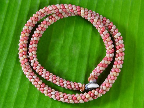 Candy Cane Kahelelani Rope Necklace